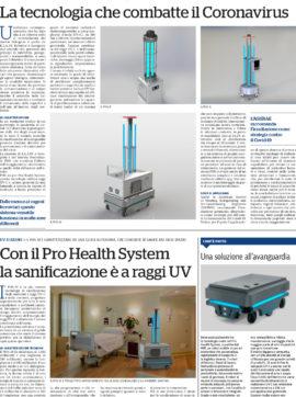 Tehnologia ce combate coronavirus roboti de dezinfectie sterilizare igienizare spitale COVID 19 romania tecnoservice phs pro health system